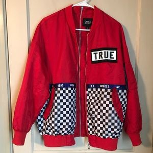 ONLY True checkered, double zipper jacket
